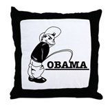 Piss on Obama Throw Pillow