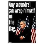 Bush Flag Wrapper Large Poster