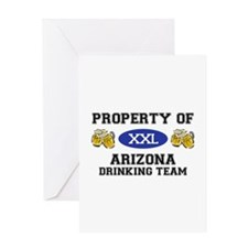 Property of Arizona Drinking Team Greeting Card