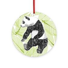 Vintage Panda Bear Ornament (Round)