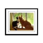 Orange Tabby Cats and Kittens Framed Panel Print