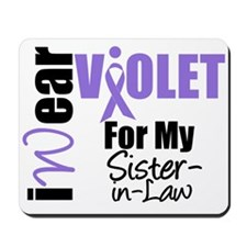 I Wear Violet Ribbon Mousepad