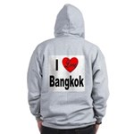 I Love Bangkok Thailand (Back) Zip Hoodie