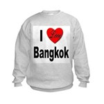I Love Bangkok Thailand (Front) Kids Sweatshirt