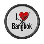 I Love Bangkok Thailand Large Wall Clock