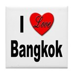 I Love Bangkok Thailand Tile Coaster