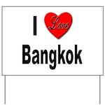 I Love Bangkok Thailand Yard Sign