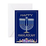 Happy Hanukkah City Greeting Card