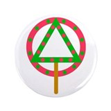 "Soberfolk Christmas 3.5"" Button (100 pack)"