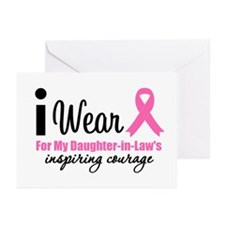 I Wear Pink Greeting Cards (Pk of 10)