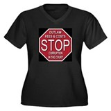 STOP Corruption In The Court Women's Plus Size V-N