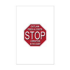 STOP Corruption In The Court Posters