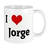 I Love Jorge Small Mug