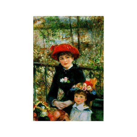 Renoir Two Sisters Rectangle Magnet (10 pack)
