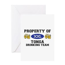 Property of Tonga Drinking Team Greeting Card