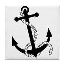 Rockabilly Tattoo Anchor Tile Coaster
