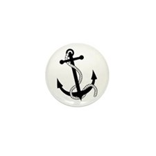 Rockabilly Tattoo Anchor Mini Button (10 pack)