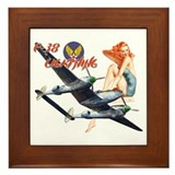 WWII P-38 Lightning Framed Tile