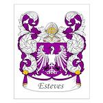 Esteves Family Crest Small Poster