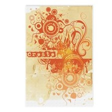 Orange Creative Chakra Postcards (Package of 8)