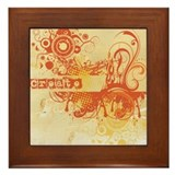 Orange Creative Chakra Framed Tile
