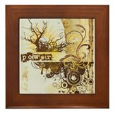 Yellow Power Chakra Framed Tile