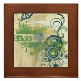 Green Love Chakra Framed Tile