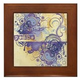 Purple Peace Chakra Framed Tile