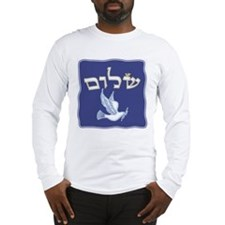 Shalom w/Dove /Bg (Hebrew) Long Sleeve T-Shirt
