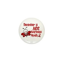 AIDS Awareness Month 4.3 Mini Button (10 pack)
