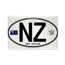 New Zealand Euro Oval Rectangle Magnet