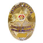 L.A. D.A. Investigator Oval Ornament