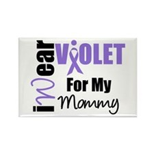 I Wear Violet Ribbon Rectangle Magnet (10 pack)
