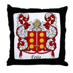 Feijo Family Crest Throw Pillow