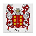 Feijo Family Crest Tile Coaster