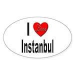 I Love Instanbul Turkey Oval Sticker (10 pk)