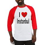 I Love Instanbul Turkey Baseball Jersey
