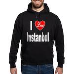 I Love Instanbul Turkey (Front) Hoodie (dark)