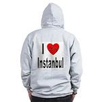 I Love Instanbul Turkey (Back) Zip Hoodie
