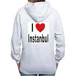 I Love Instanbul Turkey (Back) Women's Zip Hoodie