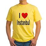 I Love Instanbul Turkey (Front) Yellow T-Shirt