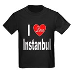 I Love Instanbul Turkey (Front) Kids Dark T-Shirt