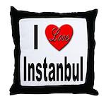 I Love Instanbul Turkey Throw Pillow