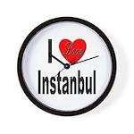I Love Instanbul Turkey Wall Clock