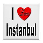 I Love Instanbul Turkey Tile Coaster
