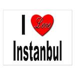 I Love Instanbul Turkey Small Poster