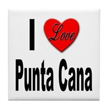 I Love Punta Cana Tile Coaster