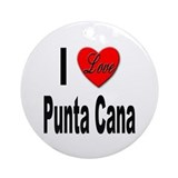 I Love Punta Cana Ornament (Round)