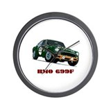 Funny Mg race car Wall Clock