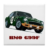 Cool Race car Tile Coaster